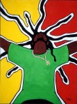 "Rasta. 30""x40"" acrylic on illustration board"