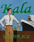 "Kala Ginger Ale. 18""x24"" acrylic on canvas board"