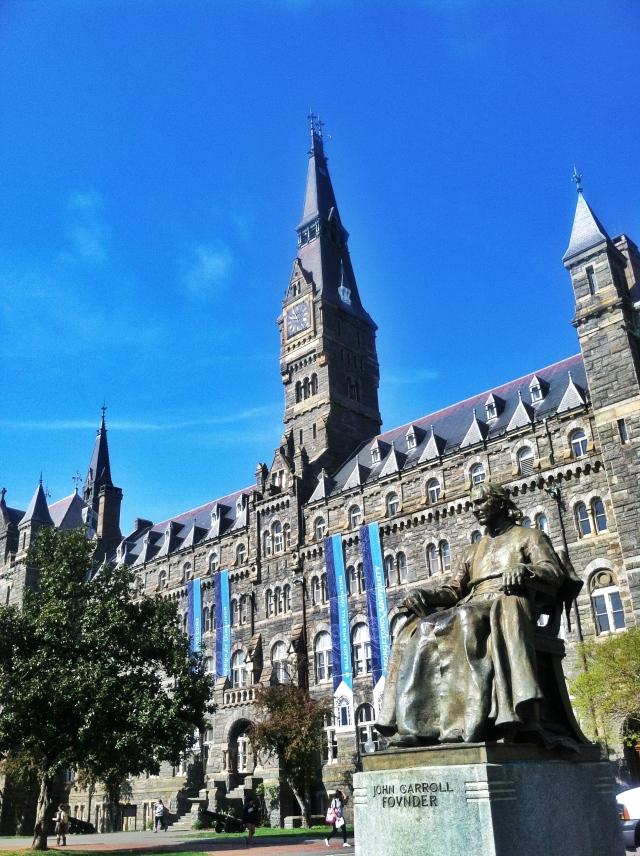 statue main building
