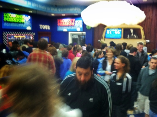 ben and jerry crowd
