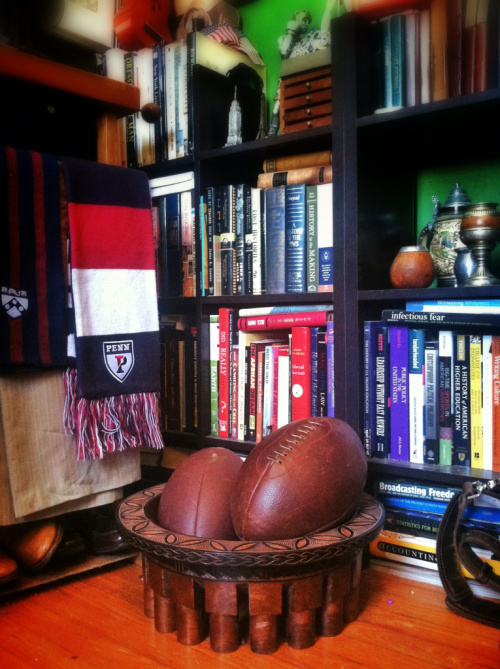 Leather Head Rugby ball at the Brohammas.com headquarters.