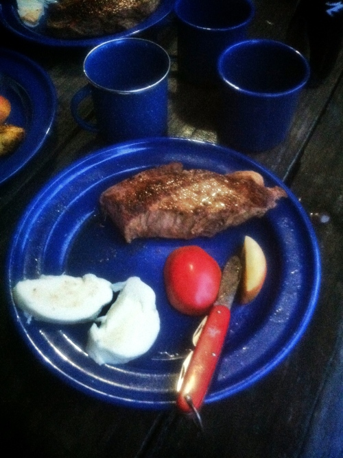 steak and apples