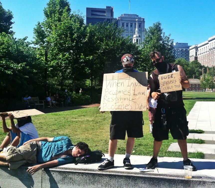 occupygasmask