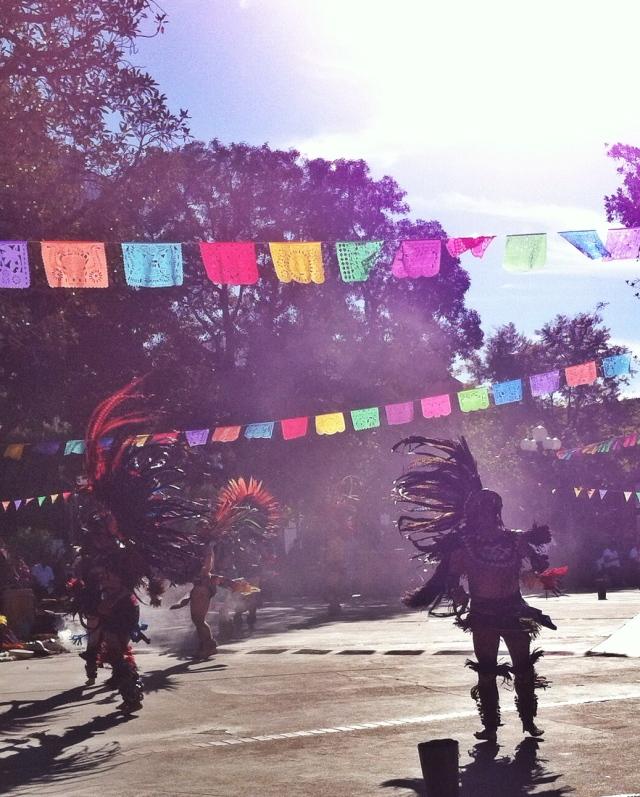 smoke and dancers