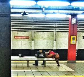 passed out subway